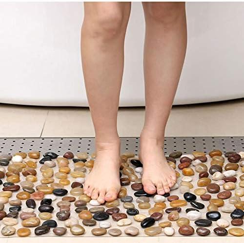 GHHQQZ バスルームのカーペット マッサージ ノンスリップ ナチュラル PVC シャワーを浴びる キッチン フットパッド 矩形 バスルームラグ、 4色、 複数のサイズ (Color : C, Size : 40x60cm)