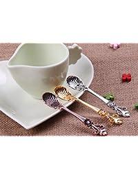 Want 10PCS Retro Palace Zinc Alloy Spoon, Stir Bar Spoon, Coffee Spoon, Mixing Spoon, Tea Spoon, Ice Tea Spoon, Ice... saleoff