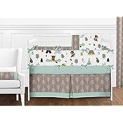 Sweet Jojo Designs 9-Piece Outdoor Adventure Nature Fox Bear Animals Boys Baby Bedding Crib Set