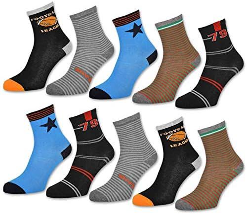 sockenkauf24-10 paia di calze da sneaker per bambini in cotone