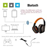 PS4 Gaming Headset, Kzon V4.1 Foldable Bluetooth Headset Noise Isolation Wireless Headphones with Microphone for PlayStation 4 PC Mac Smartphones Computers Laptops