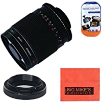 High-Power 500mm f/8.0 Telephoto Mirror Manual Lens for Canon Digital EOS Rebel T1i, T2i, T3, T3i, T4i, T5i, SL1, EOS 60D, EOS 70D, EOS 80D, 50D, 40D, 30D, EOS 5D, EOS1D, EOS5D III, EOS 6D, EOS 7D Digital SLR Cameras