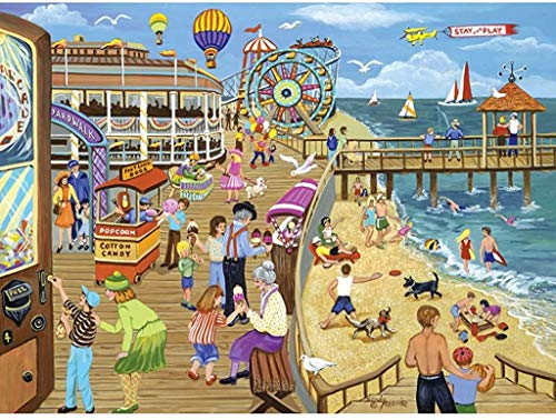 Bits and Pieces - 500 Piece Jigsaw Puzzle for Adults - Ice Cream On The Boardwalk