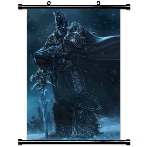 Wall Scroll Poster with Warcraft Wow World Of Warcraft Lich