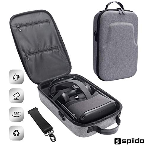 Spiido [2020 Upgrade] Hard Travel Case for Oculus Quest VR Gaming Headset and Controllers Accessories Waterproof…