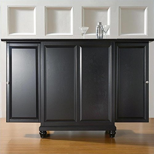 Crosley Furniture Cambridge Expandable Top Bar Cabinet - Black