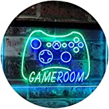 AdvpPro 2C Game Room Console TV Man Cave Kid Room Dual Color LED Neon Sign Green & Blue 12'' x 8.5'' st6s32-j2984-gb
