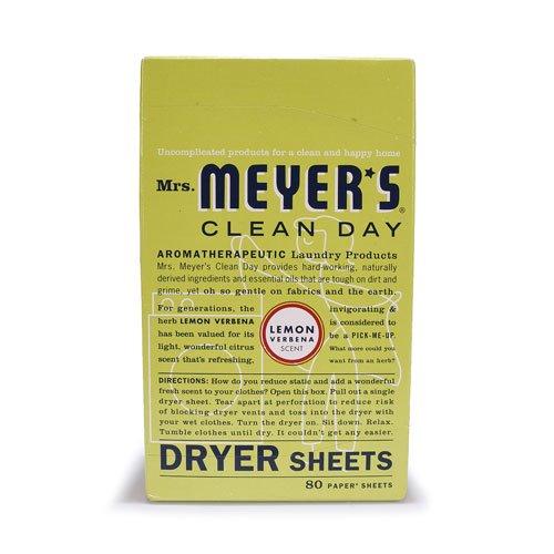 Mrs. Meyer's Clean Day® Dryer Sheets Lemon Verbena -- 80 Sheets
