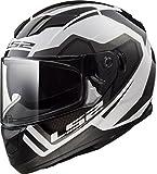 LS2 Helmets Stream Axis White Graphic Unisex-Adult Full-Face-Helmet-Style Motorcycle Helmet (White, Medium)