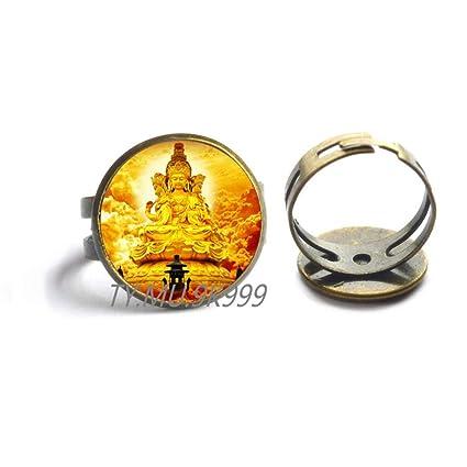 Amazon.com : Yao0dianxku Yoga Chenrezig Ring Hippy Buddhist ...
