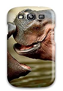 NZtgFQc1393lhHzE Tpu Phone Case With Fashionable Look For Galaxy S3 - Hippopotamus Wallpaper