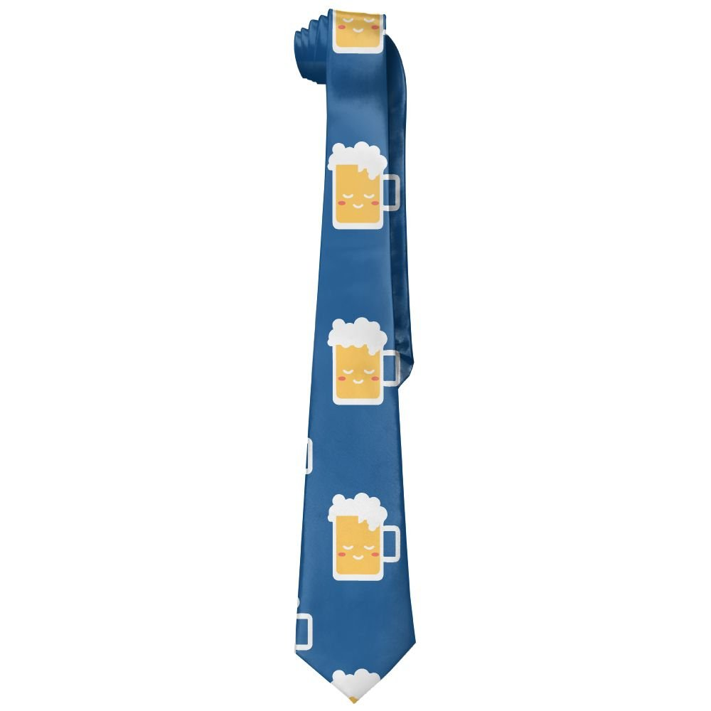 Men Cute Glass Beer Fashion Casual Tie Necktie