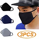 Face Mask Que Bella - 3 Pcs Activated Carbon Anti Dust Face Mouth Mask, WITERY Warm Anti Dust Mask Anti-fog Mask Antibacterial Activated Carbon Earloop Mouth Mask Face Masks for Men Women