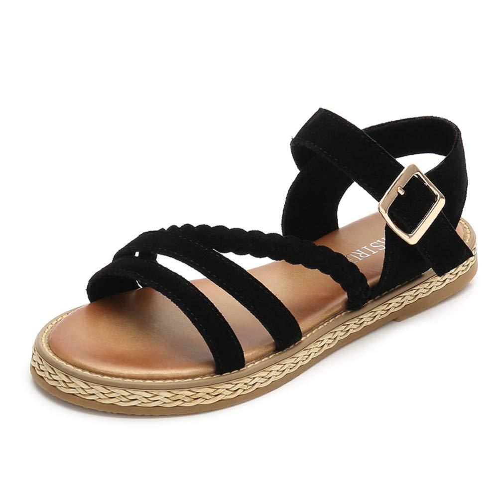 MagicXle Sandales pour Dames - Semelle Plate - Muffin Confortable - Semelle - UNE seule Chaussure - Loisir