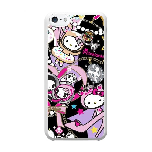 Coque,Coque iphone 5C Case Coque, Tokidoki Hello Kitty Cover For Coque iphone 5C Cell Phone Case Cover blanc