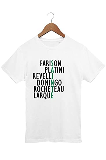 Le T-shirt Foot - Camiseta de Hombre - Diseño de Leyendas del Saint-Etienne - para fanáticos del ASSE - Algodón 100% ecológico - Impreso en Francia: ...