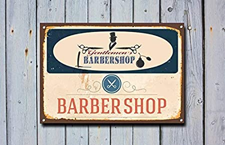 HSSS Barber Shop - Cartel de Metal (20,3 x 30,5 cm), diseño ...