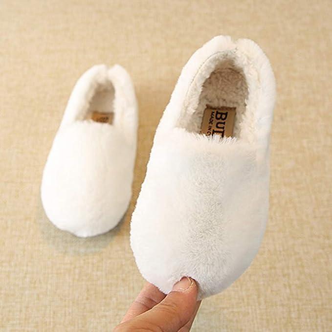 Zapatos de bebé,ZARLLE Botas de Nieve de Felpa cálida para niños Zapatos de niña de Invierno Bota de Nieve Antideslizante de Fondo Suave Zapatos de bebé de ...