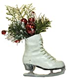 Snow Dusted 4.5'' Ice Skate Christmas/Everyday Hanging Ornament (Sequin Ornament)