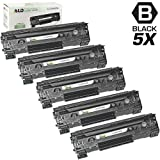 LD © Remanufactured Replacement Laser Toner Cartridges for Hewlett Packard CB436A (HP 36A) Black for the M1522/P1505 Printers (5 Pack)