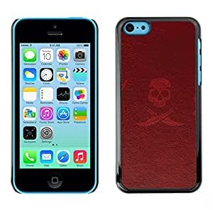 Plastic Shell Protective Case Cover || iPhone 5C || Pirate Sign Symbol Slogan Skull Swords @XPTECH