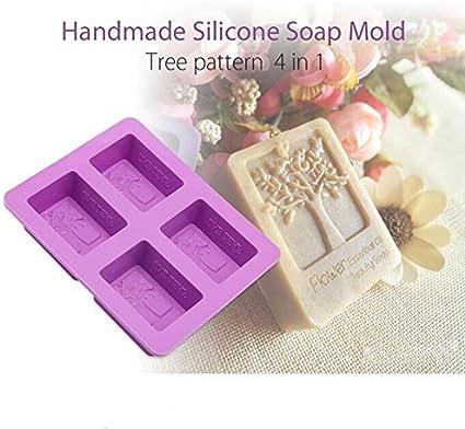 Siwetg 8 cavit/à rettangolari Cuboide Silicone Stampo Sapone Secco Fiori Resina Stampi DIY Strumenti Cuboide Colla