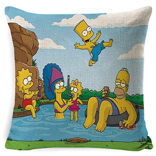 IugfyGY932 Family Comedy Humor The Simpsons Cartoon Character Images Pillow case Home ()