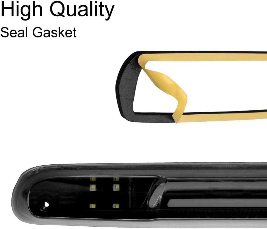 3rd Third Brake Light Seal Gasket Replacement for 2007-2013 Chevy Silverado//2007-2013 GMC Sierra 1500 2500 3500-High Mount Stop Lamp Waterproof