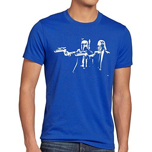 Wars Hormiga Star Fiction Boba Hombre Empire Pulp Fett camiseta Darth Blue rF0T4