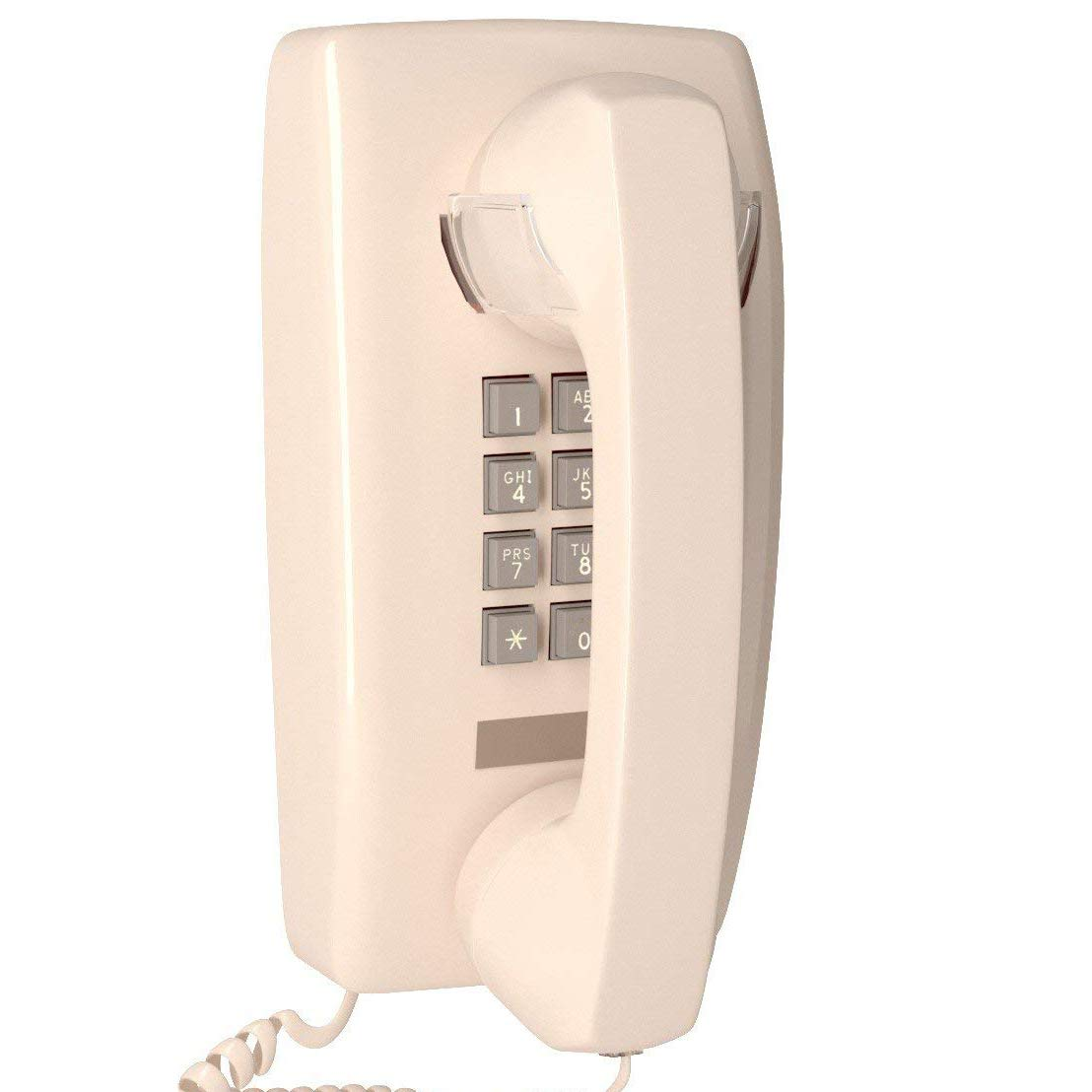 Home Intuition Single Line Wall Mounted Corded Telephone with Extra Loud Ringer, Ash