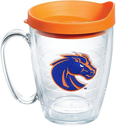 (Tervis 1167071 Boise State Broncos Horse Head Tumbler with Emblem and Orange Lid 16oz Mug, Clear)