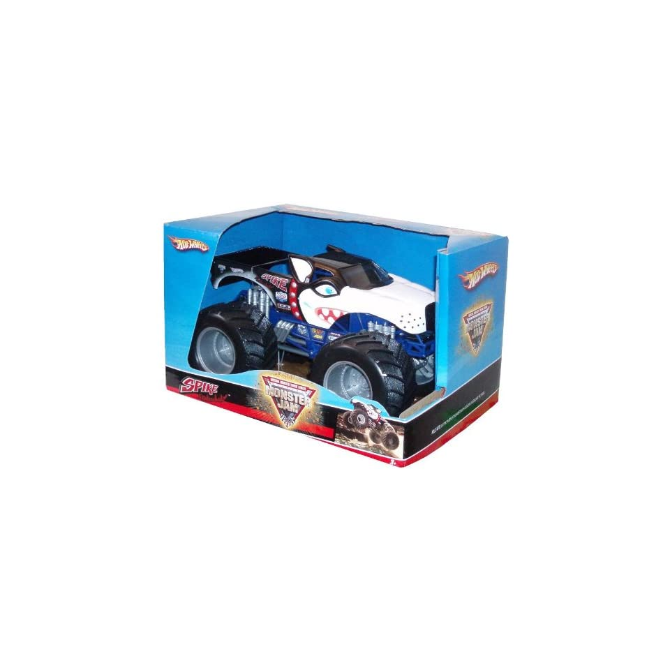 Hot Wheels Monster Jam 124 Scale Die Cast Official Monster Truck 2008 Series   SPIKE Unleashed with Monster Tires, Working Suspension and 4 Wheel Steering (Dimension 7 L x 5 1/2 W x 4 1/2 H)