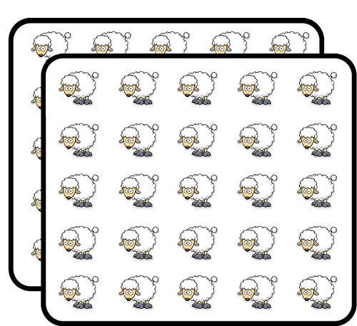 Sheep Sticker for Scrapbooking, Calendars, Arts, Kids DIY Crafts, Album, Bullet Journals 50 Pack ()