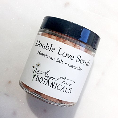Double Love Organic Body Scrub with Pink Himalayan Salt & Organic Lavender Essential Oils - Moisturizing and Exfoliating Shea Butter Scrub by Angel Face Botanicals