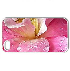 Beautiful flower - Case Cover for iPhone 4 and 4s (Flowers Series, Watercolor style, White)
