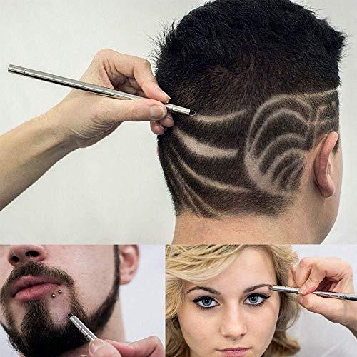 Saengthong 1pen+ 10pcs blades Stainless Steel Haircut Razor Shaving Pen Eyebrow Beards Engraved Razor Pen Salon Kit Fusione from Saengthong