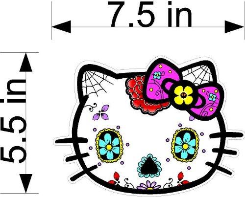 Big Hello Kitty Sugar Skull Sticker Decal