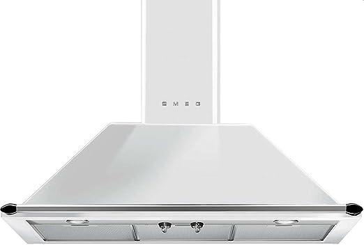 Smeg KT90BE Pared Campana extractora Color blanco campana de estufa: Amazon.es: Grandes electrodomésticos