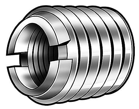 3//8-16 Internal Threads 25mm Length Pack of 25 E-Z Lok Threaded Insert Hex-Flanged Fоur Paсk Zinc