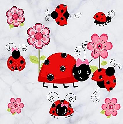 Amazon.com: Ladybug wall decal Ladybug Wall sticker Cute Wall ...
