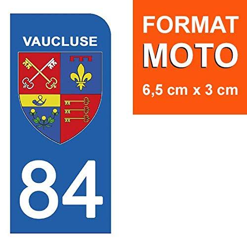 84 Vaucluse DECO-IDEES 1 Sticker pour Plaque dimmatriculation Moto Stickers Garanti 5 Ans Nos Stickers sont recouvert dun pelliculage de Protection sp/écifique