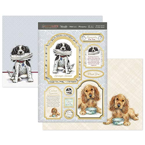 (Hunkydory Its a Dogs Life- Springer Spaniel & Cocker Spaniel Luxury 3-Piece Topper Set)