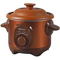 PowerPac PPSC1515 Slow Cooker 1.5L Brown