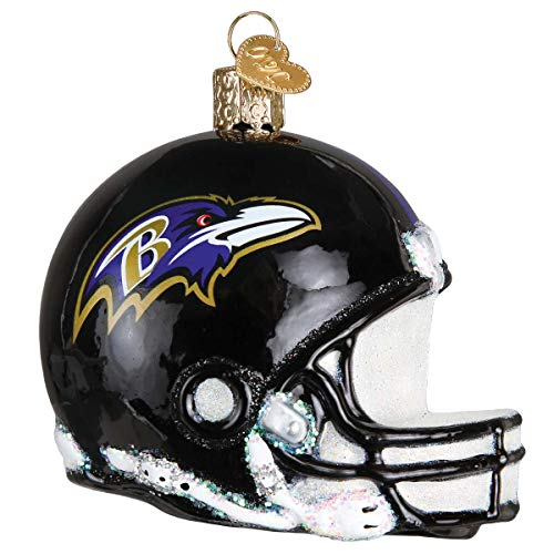 Personalized Baltimore Ravens Helmet Glass Blown Christmas Ornament for Tree by Old World Christmas