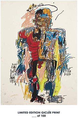 Posters Perdus Rare Poster Art Jean-Michel Basquiat Autoportrait Reprint #d//100! 12x18
