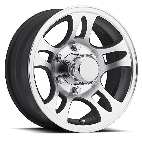 SENDEL T03 ALUMINUM TRAILER WHEEL WITH BLACK MACHINED FINISH 14X5.5 5X4.50(114.3)  +0 - Aluminum Wheel Machined