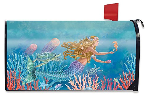 Fish Mailbox - Briarwood Lane Mermaid Summer Magnetic Mailbox Cover Nautical Fish Standard