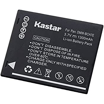 Kastar Battery for Panasonic DMW-BCH7, DMW-BCH7PP, DMW-BCH7E, DE-A76 and Panasonic Lumix DMC-FP1, DMC-FP2, DMC-FP3, DMC-FT10, DMC-TS10 Cameras