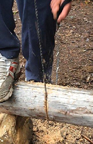 Joyoldelf Hand-Kettensäge, Sägekette, schützt das Getriebe Ihrer Motorsäge, gehört beispielsweise in Ihr Campingzubehör, Survival-Set, usw.