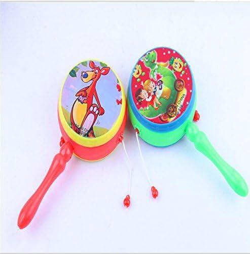 EEvER Gran Comodidad portátil jugabilidad Juguetes Infantiles de plástico Juguetes de jardín de Infantes Regalos Tambores de Mano Juguete sonajero (Color Aleatorio): Amazon.es: Hogar